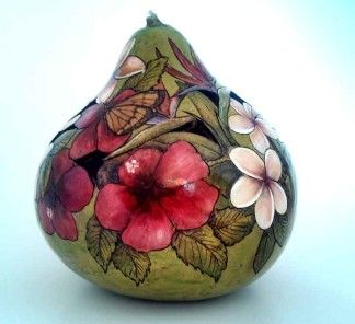 Adding more color to your gourd art