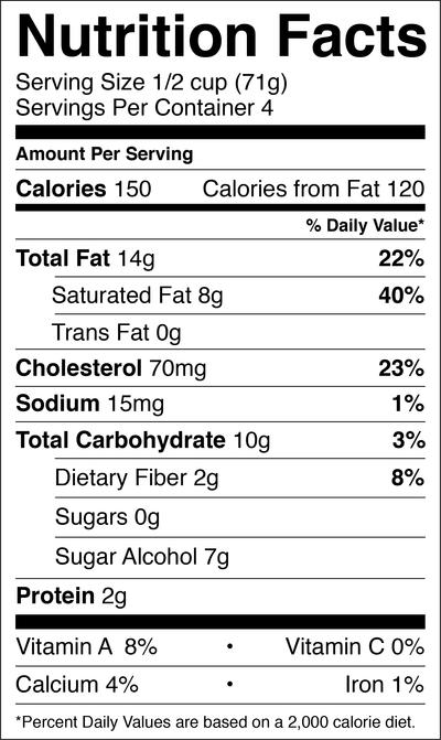 Vanilla | Low carb ice cream in 2019 | Nutrition information