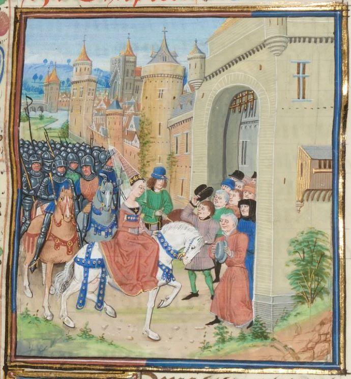 « Chroniques sire JEHAN FROISSART » Date d'édition :  1401-1500  Français 2643  Folio 9r
