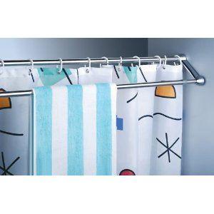 Double Towel Shower Curtain Rail Small Bathroom Diy Shower