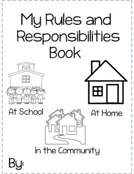 My Rules and Responsibilities Booklet | Grade 1 ...