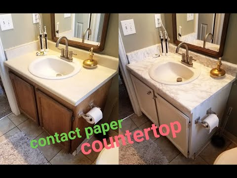 13 Diy Marble Contact Paper Over Formica Bathroom Countertop Youtube In 2020 Contact Paper Countertop Diy Marble Contact Paper Diy Countertops