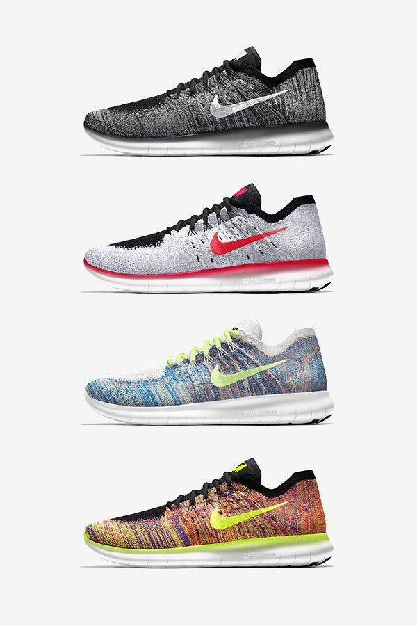 quality design 00e4e d20de Get creative with your run in the Free RN Flyknit 2017 NIKEiD. Not only can  you add your favorite NRC run emoji to it, you can choose from iD-exclusive  ...