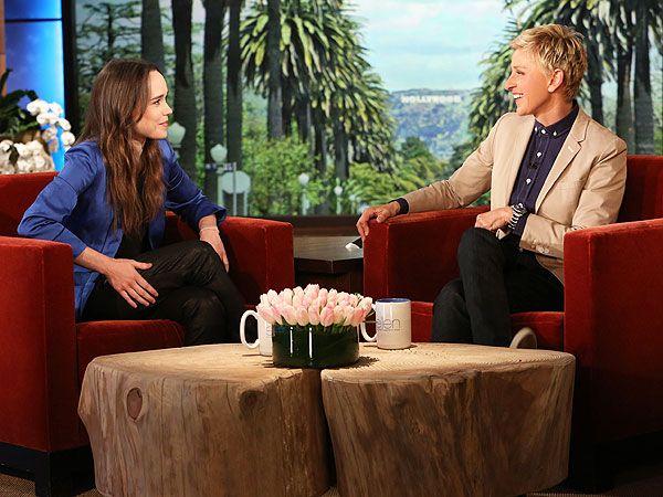 Ellen Page Says It Was Toxic Living In The Closet Celebuzz Ellen Page Ellen Degeneres Celebrity Interview