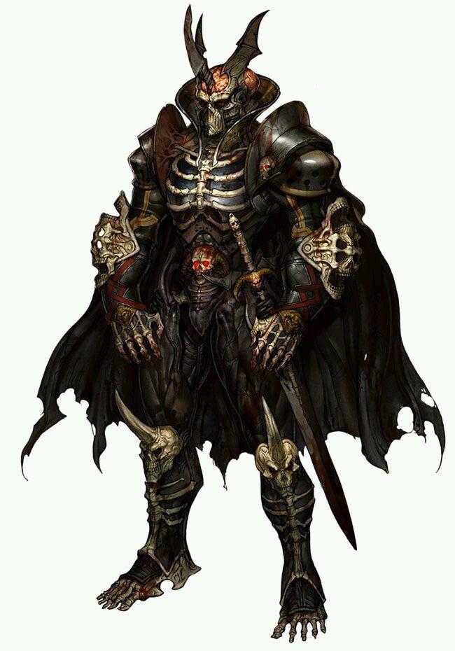 Fantasy Art Armored Skeleton