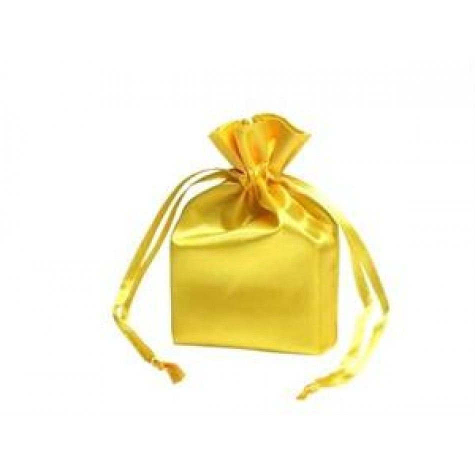 Satin Bags 12 Gold Satin Favor Bags 3 Sizes Available Gold