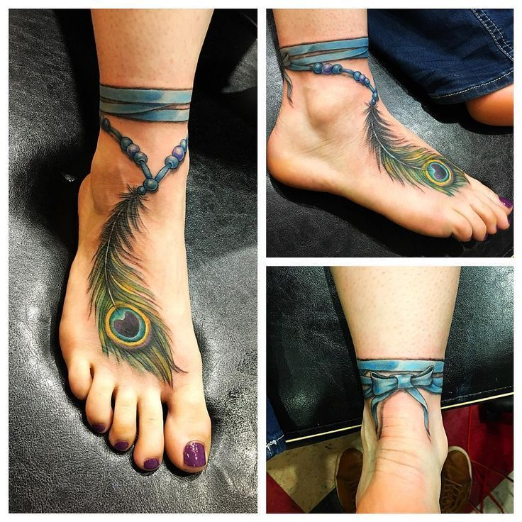 Peacock Feather Anklet Tattoo | Tattoo Ideas and Inspiration #style #shopping #styles #outfit #pretty #girl #girls #beauty #beautiful #me #cute #stylish #photooftheday #swag #dress #shoes #diy #design #fashion #Tattoo