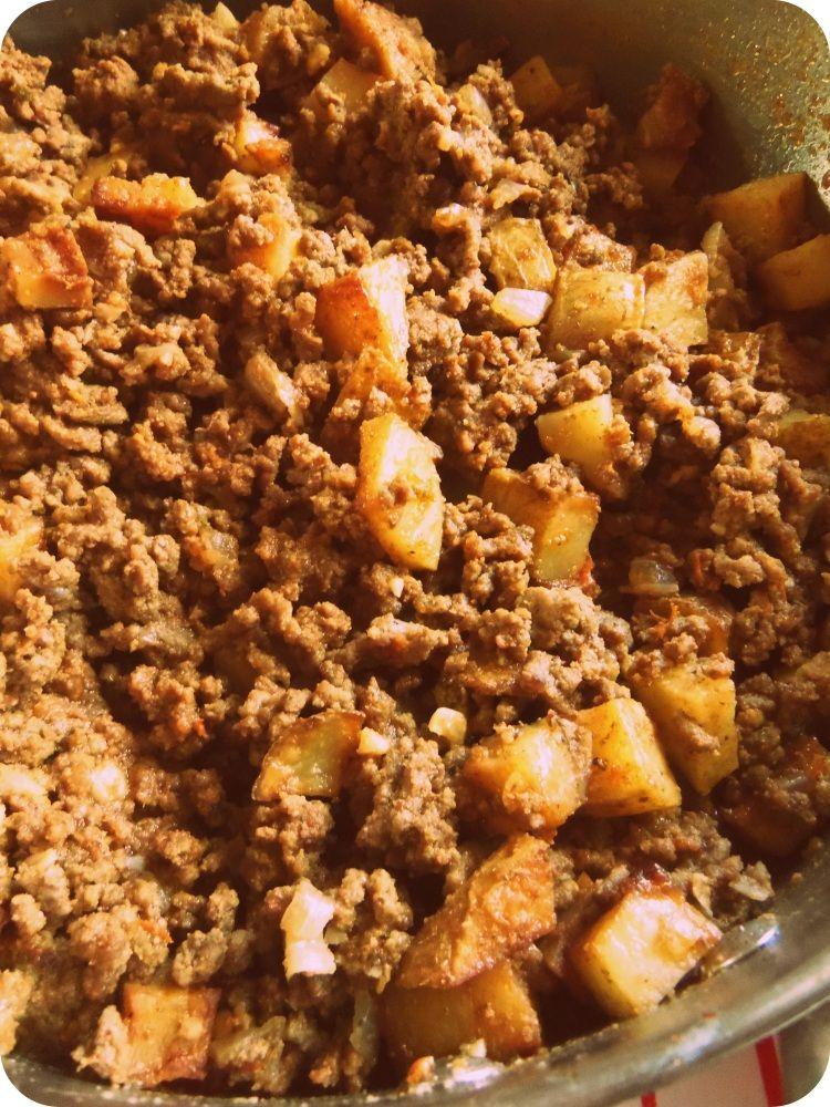 Mom S Beef Picadillo With Potatoes Hispanic Kitchen Recipe Mexican Food Recipes Recipes Food