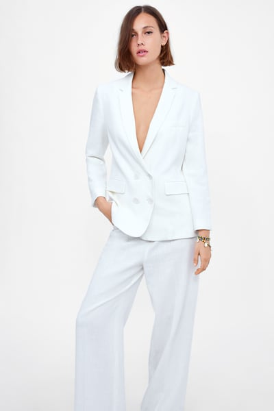 afe993ef Double breasted buttoned blazer in 2019 | Products | Blazer, Zara ...