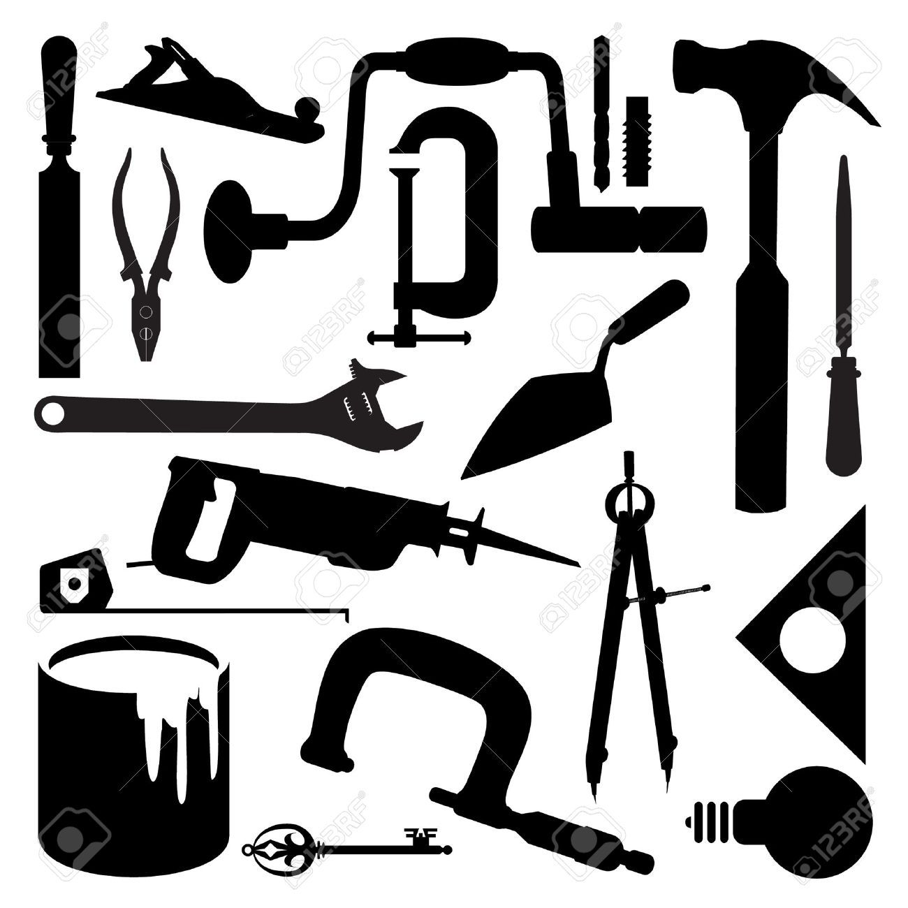Woodworking Tool Silhouettes Google Search Tool Silhouettes