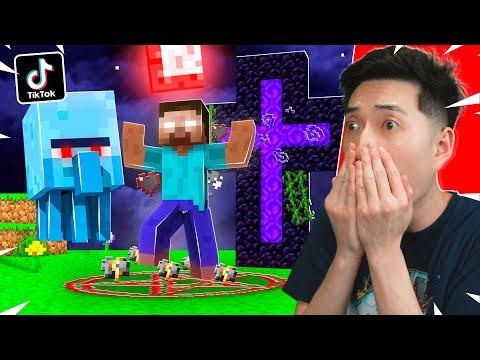 scary tiktok minecraft hacks that actually work! - youtube