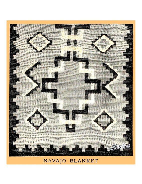 Perfecto Patrón De Crochet Afghan Navajo Colección - Ideas de ...
