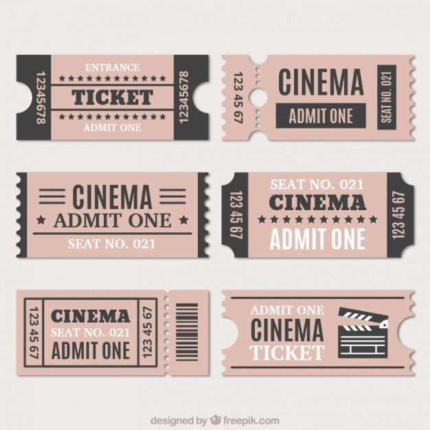 Download Assortment Of Cinema Tickets In Vintage Style For Free