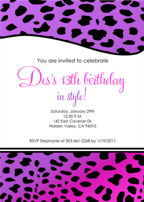 13th Birthday Invitation For Desiree
