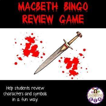 Macbeth Bingo Review Game Character Symbols Bingo Games And Game