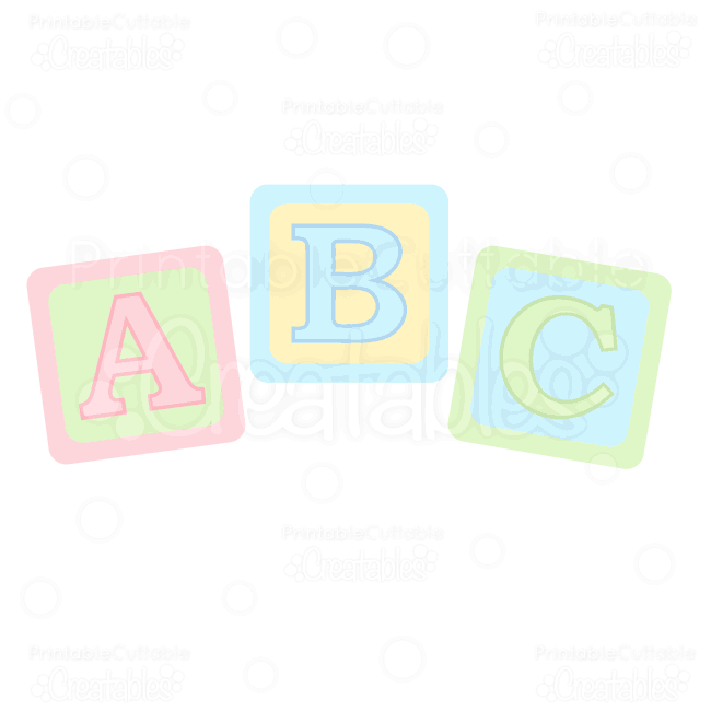 ABC Baby Blocks Free SVG Cuts & Clipart | Baby blocks, Silhouette ...