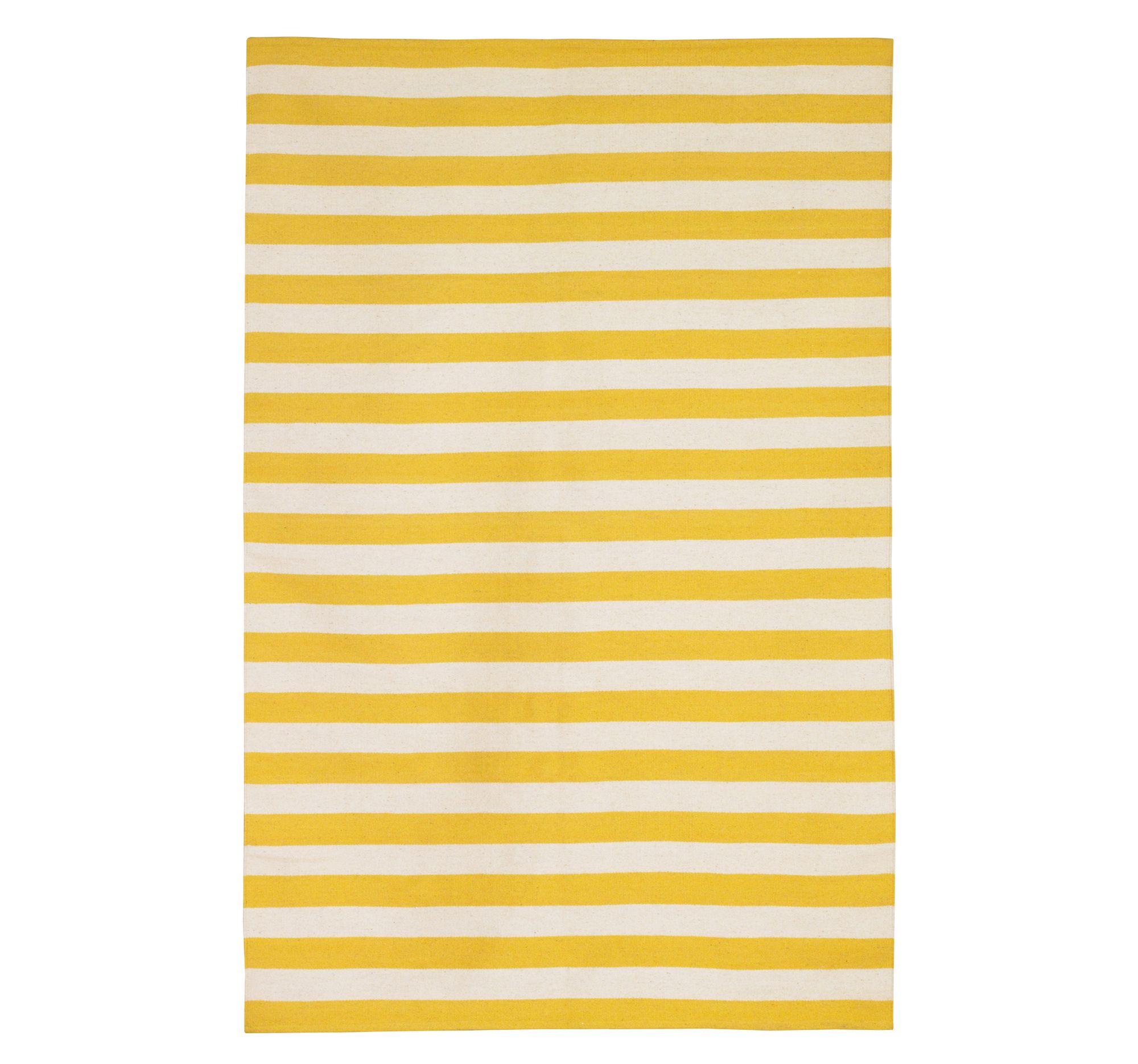 Awesome DwellStudio Draper Stripe Citrine Rug Design