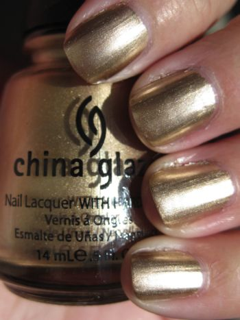 China Glaze Nail Polish 2030 Part Of The Khrome Collection Light Gold Fantastic For Konad Or