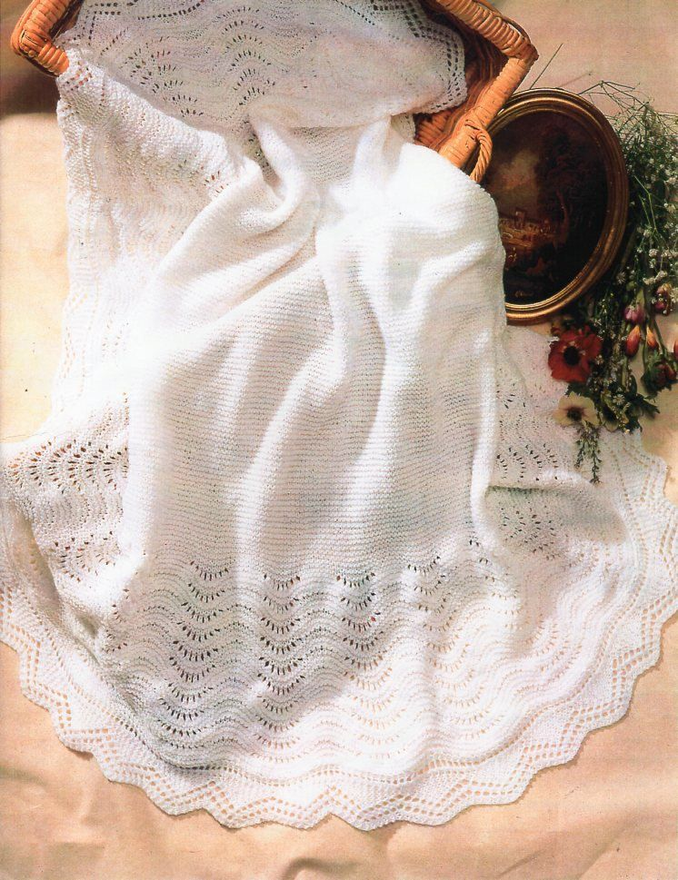 Baby 4ply Shawl Knitting Pattern Pdf Baptism Christening Square Lacy