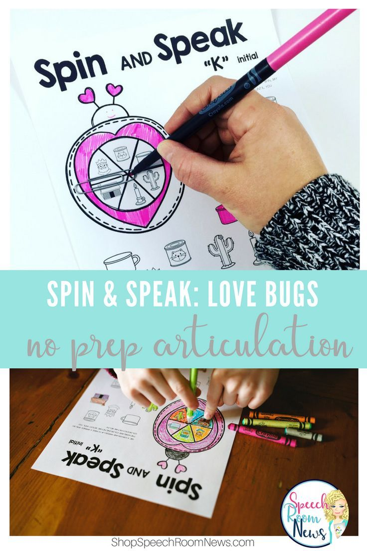 Spin and Speak: Love Bugs for Valentine\'s Day | Therapy tools ...