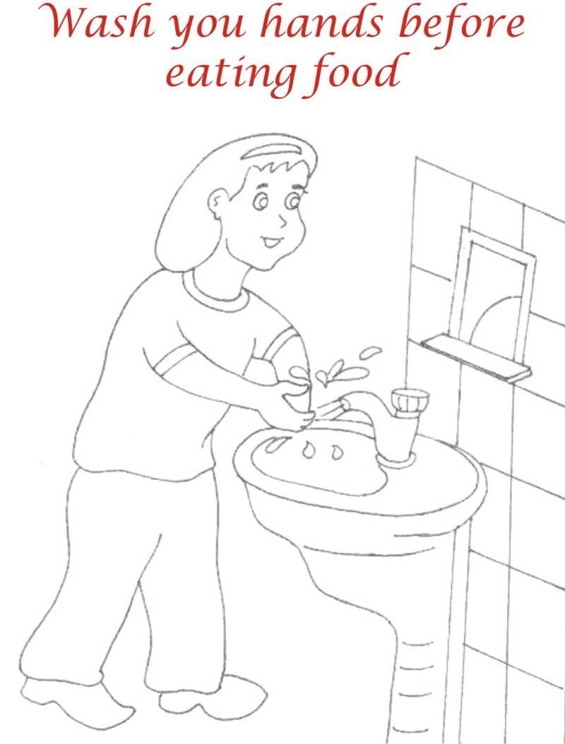 Manners For Kids Coloring Pages