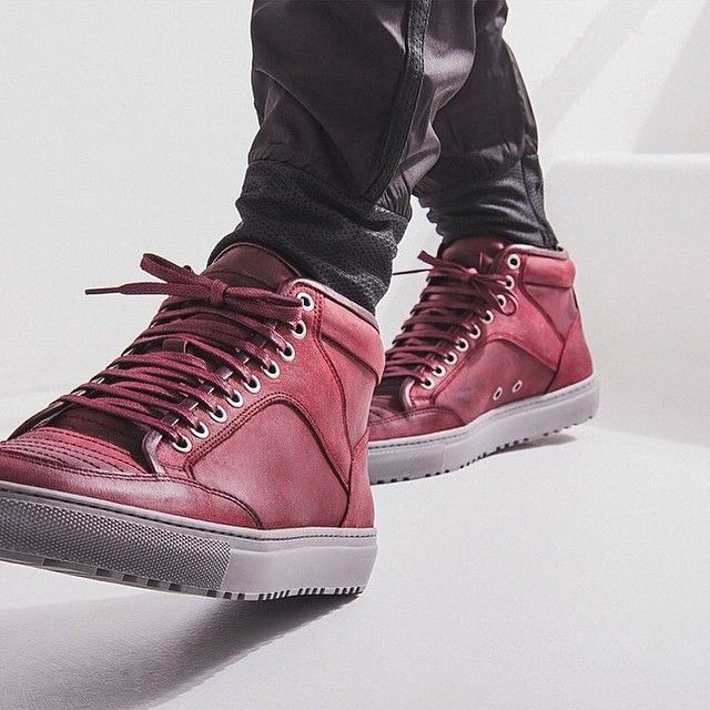 ETQ Amsterdam High Top Sneakers   Red