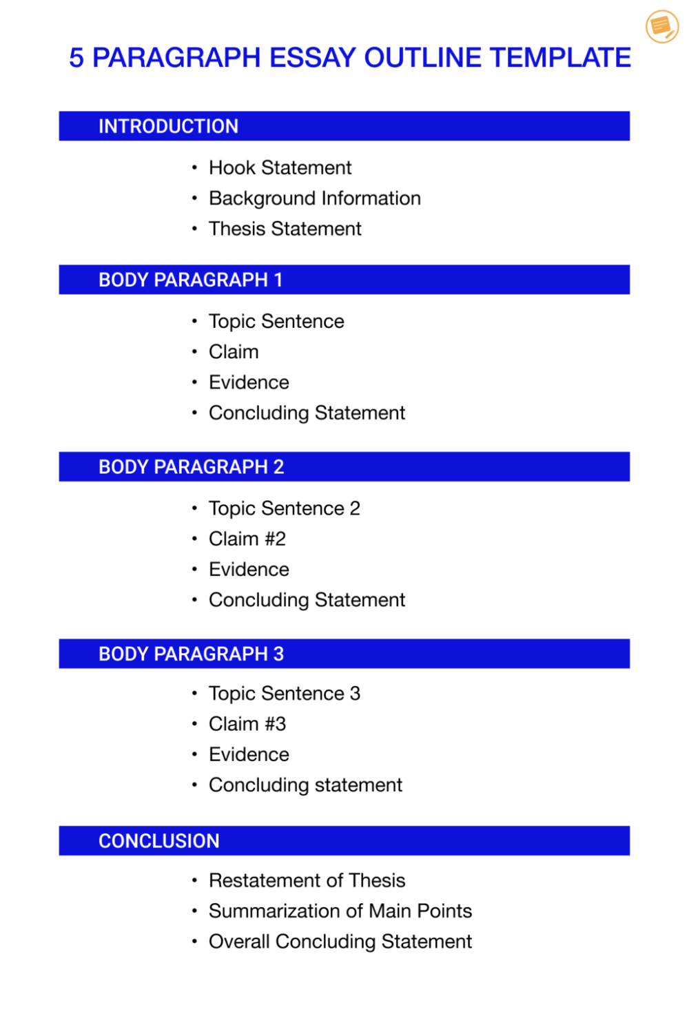 Examples Of Topic Outline And Thesis Statement Guide