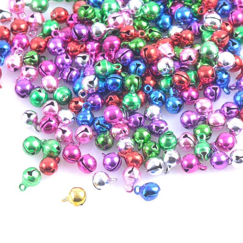 100 Pcs Jewelry Making Pendant Embellishments Jingle Bell Iron Beads Christmas