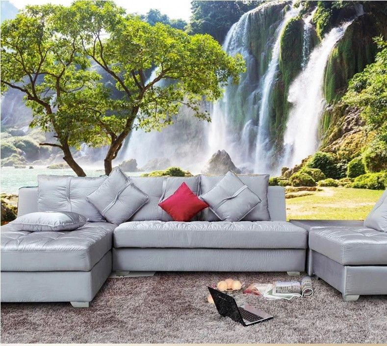 High Quality Modern Luxury Wallpaper 3d Wall Mural Papel De Parede Photo Wall Paper Waterfall In Wallpapers Custom Photo Wallpaper Wall Wallpaper Wall Murals