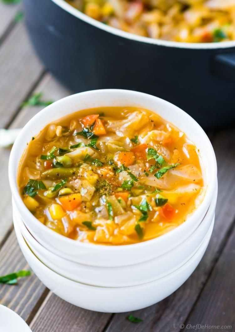 No Oil Quick And Healthy Vegetarian Cabbage Soup For Cabbage Soup Diet Plan Chefdehome Com Vegetarian Cabbage Soup Vegetarian Cabbage Soup Diet Plan