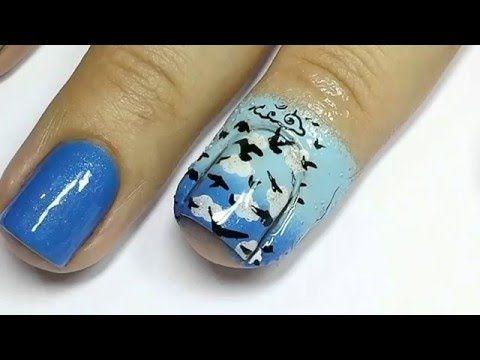 Oi, meninas! Hoje vamos aprender a fazer um degradê azul e carimbada dupla! Esperamos que gostem! Para ver mais fotos, acesse o post completo no blog: http:/...