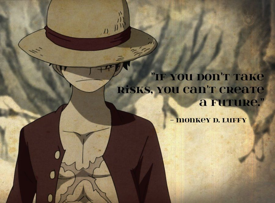 Image result for if you don't take risks you can't create a future luffy