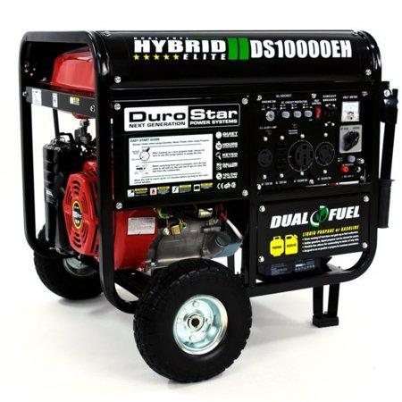 Durostar Ds10000eh 10000 Watt 18 Hp Dual Fuel Hybrid Generator W Electric Start Walmart Com Dual Fuel Generator Propane Generator Portable Generator
