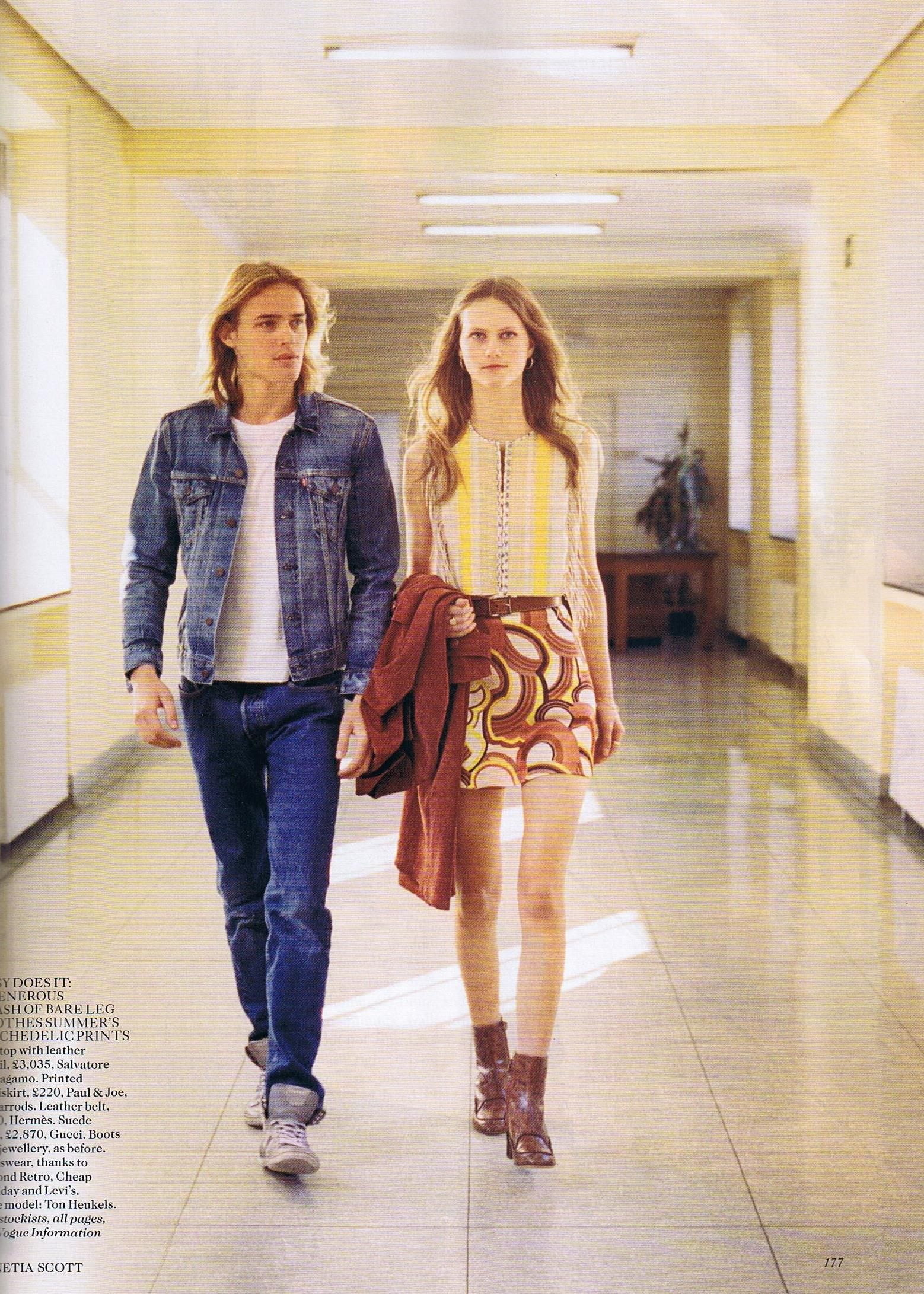 Endless Days 70s Inspired Photo Shoot From Vogue Uk June Mood In