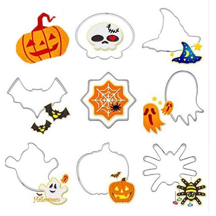 xuxuou Halloween Kekse Backen Form DIY Kürbis Geist Fledermaus ...