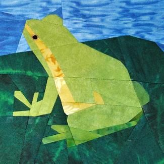 Paper Pieced Tree Frog Block free pattern on Craftsy at http://www.craftsy.com/pattern/quilting/home-decor/paper-pieced-tree-frog/62288