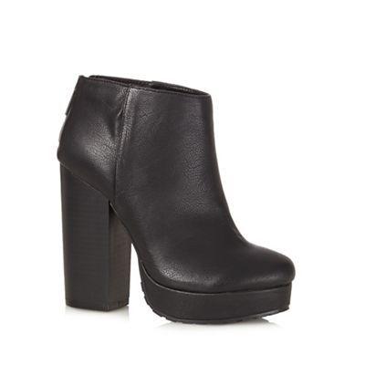 bbac98ad8872 Call It Spring Black  Leawen  high heeled platform ankle boots ...