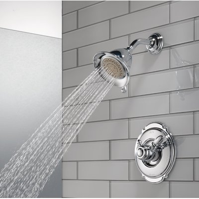 Victorian Pressure Balanced Diverter Shower Faucet Trim With Lever