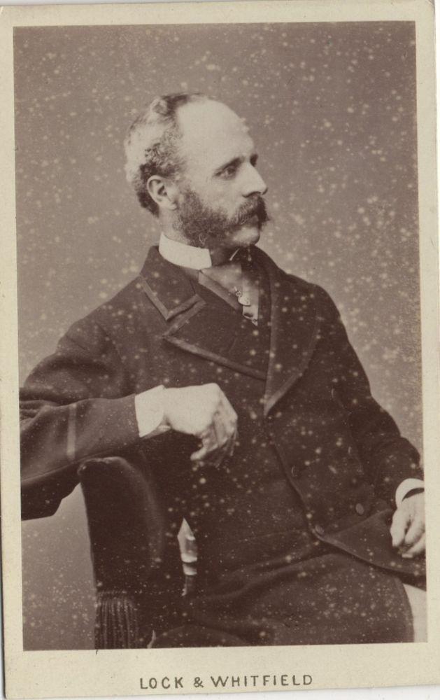 CDV photo Victorian Bearded Man Fashion - Lock & Whitfield of BRIGHTON 1870s