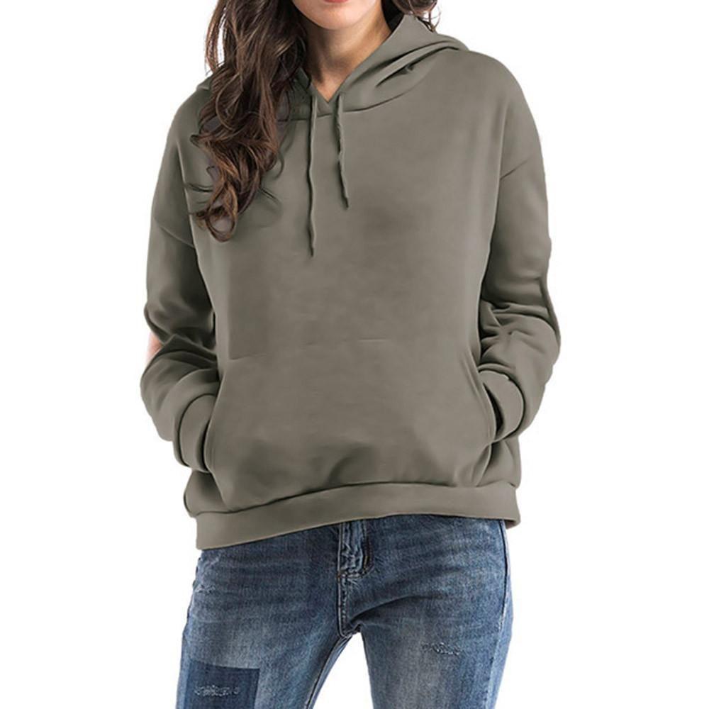 Fensajomon Women Loose Fit Zip Drawstring Hooded Casual Crop Hoodie Pullover Sweatshirt