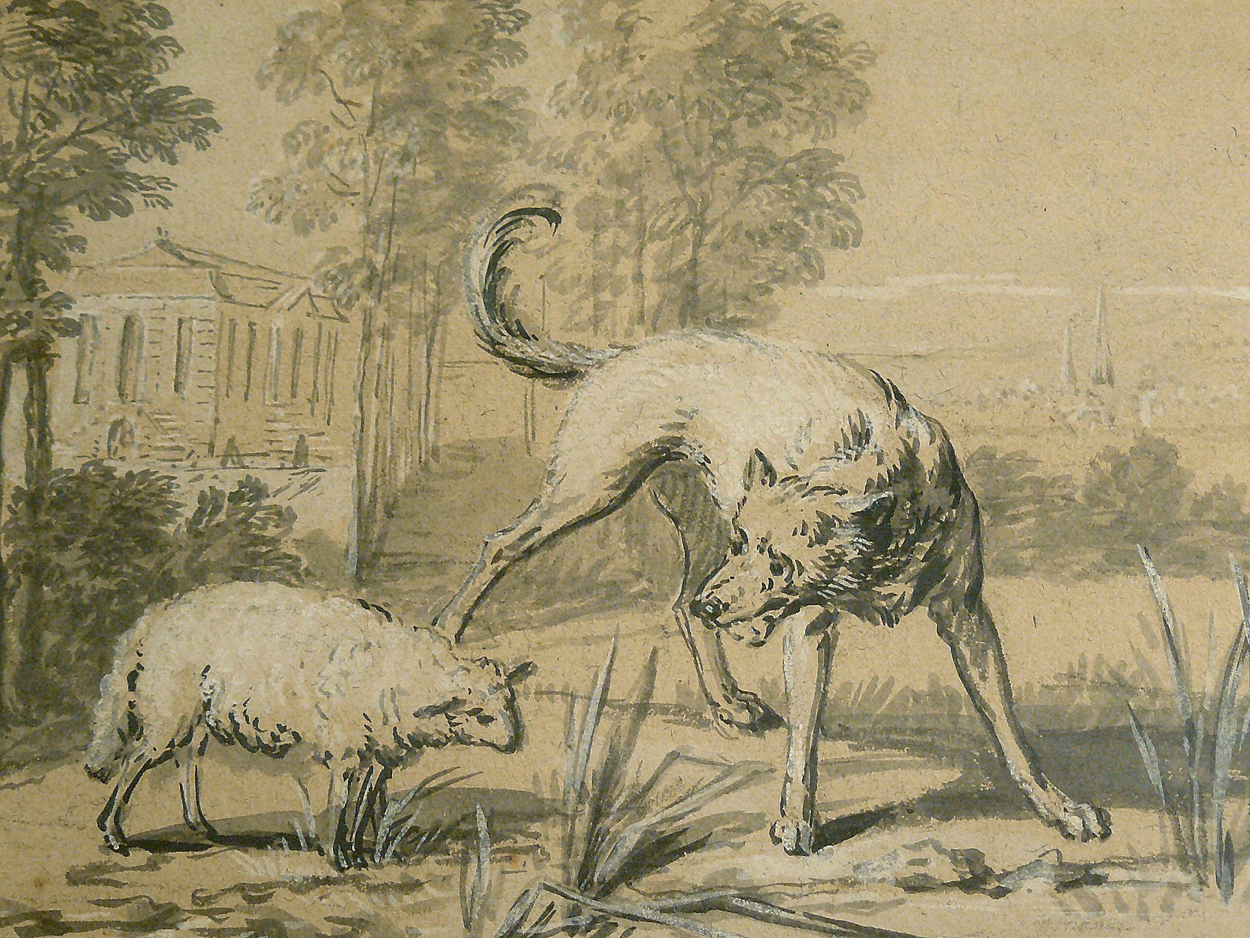 Oudry Jean Baptiste 1747 Le Loup Et L Agneau Details Tag Art