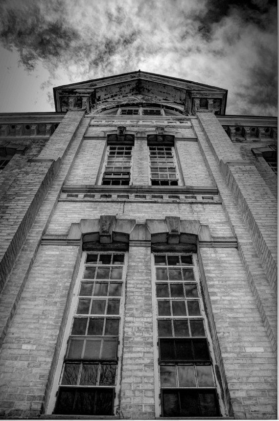 Fine art photography building 50 fifty black white 7 25 x 11 photograph via etsy