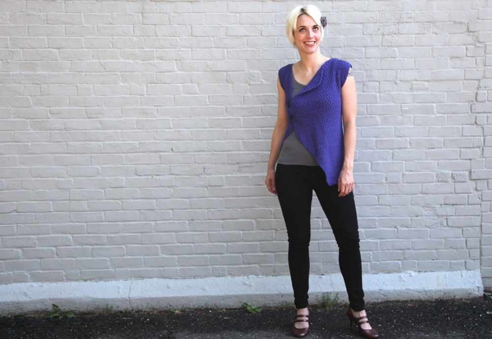 The Proclus Vest is my second favorite design for the summer and Katie looks amazing in it!