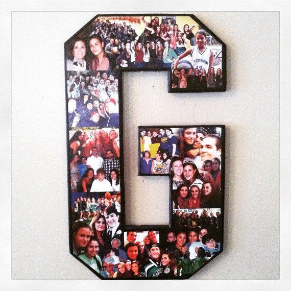 letter photo collage senior night gift softball senior gift