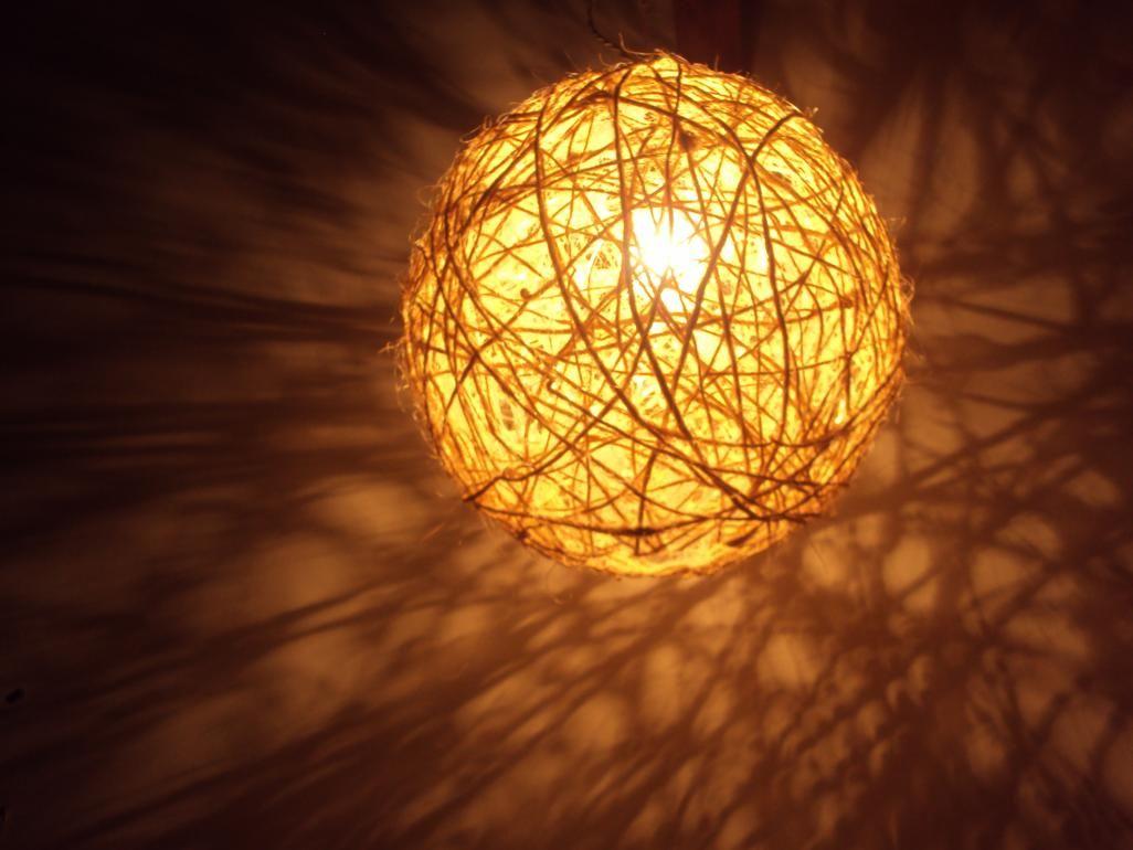 Luminária de Sisal