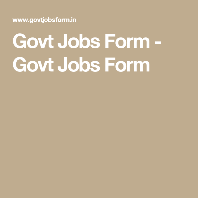 On The Job Training Form Govt Jobs Form  Govt Jobs Form  Government Job Alert  Pinterest .