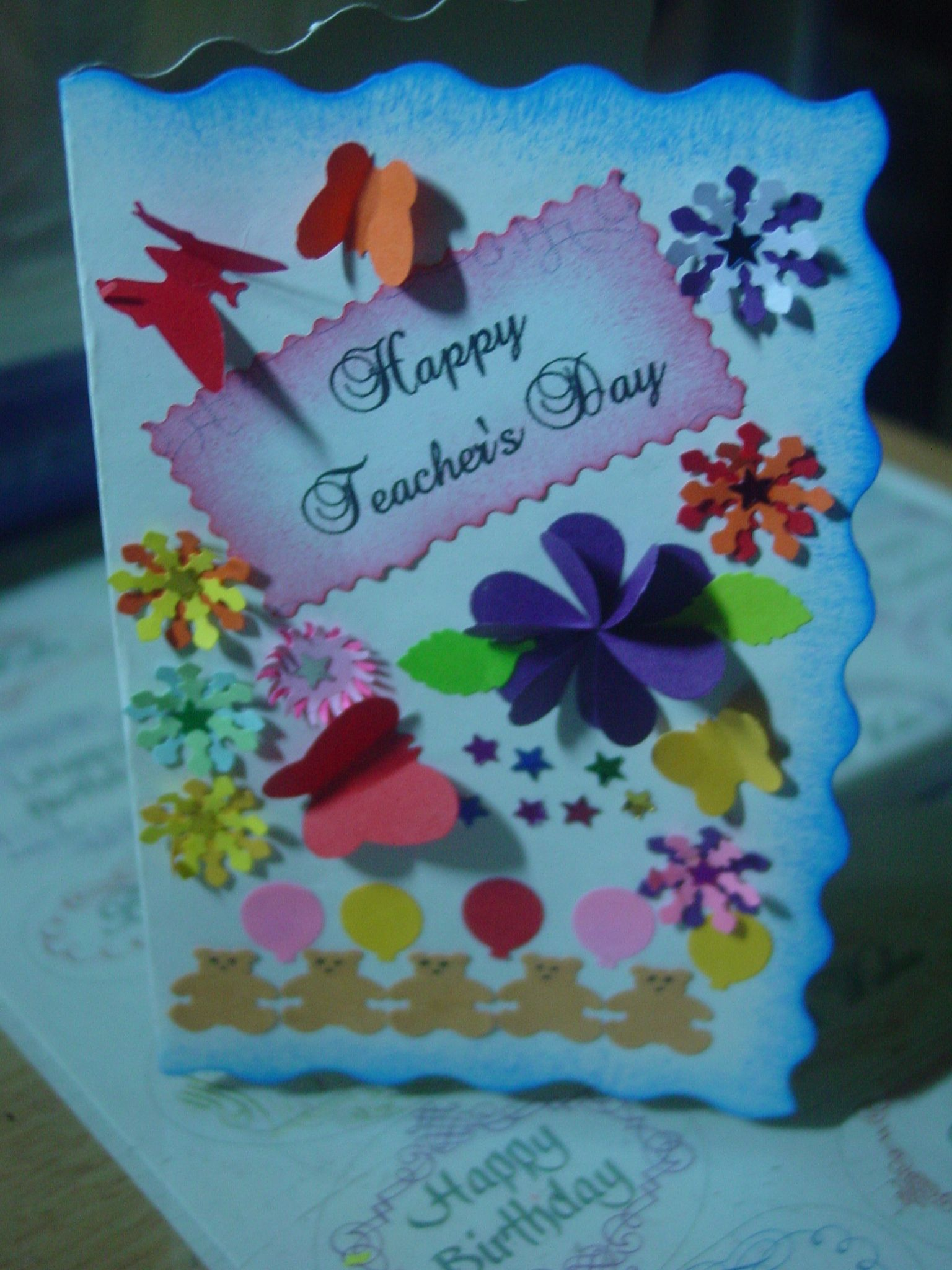 Teacher's day card | My Daughter's Creations | Pinterest ...