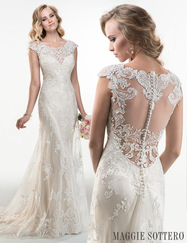friday favorite lace sheath wedding dress maggie sottero