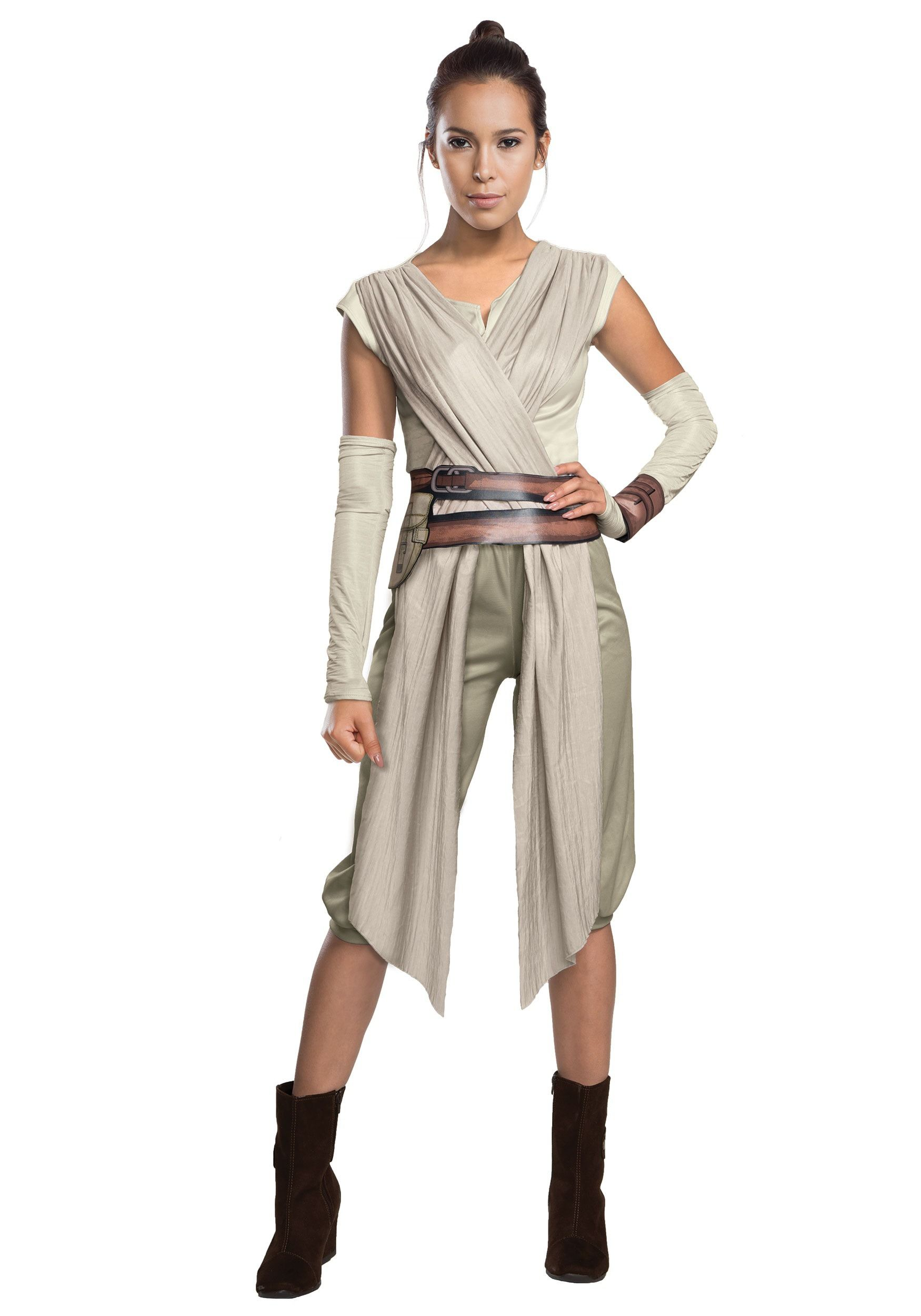 This Adult Deluxe Star Wars Ep. 7 Rey Costume recreates the look ...