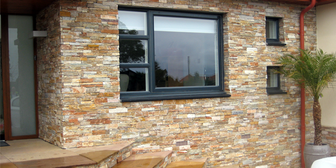 Stonepanel paneles de piedra natural para fachadas aisladas y ecol gicas stonepanel - Materiales para fachadas exteriores ...